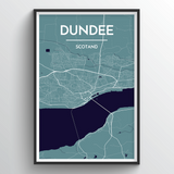 Affordable wholesale art prints of Dundee - City Map Art Print