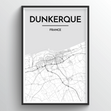 Dunkerque Map Art