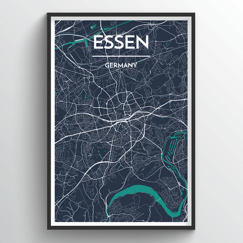 Affordable wholesale art prints of Essen - City Map Art Print