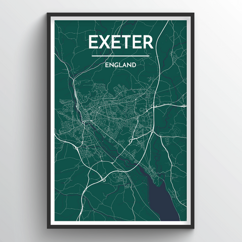 Affordable wholesale art prints of Exeter - City Map Art Print