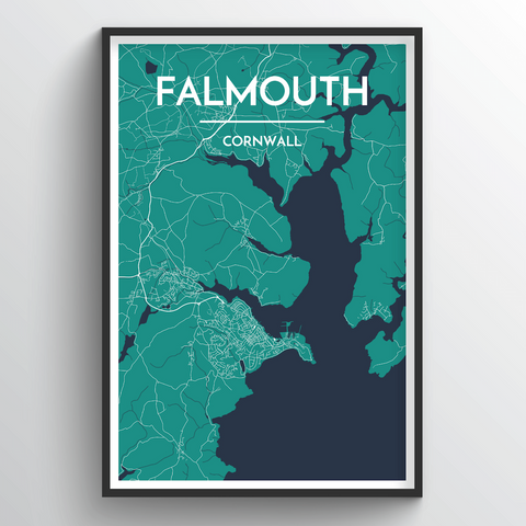 Affordable wholesale art prints of Falmouth - City Map Art Print