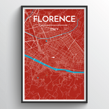 Affordable wholesale art prints of Florence - City Map Art Print