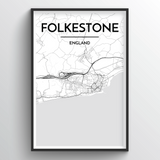 Folkeston Map Art