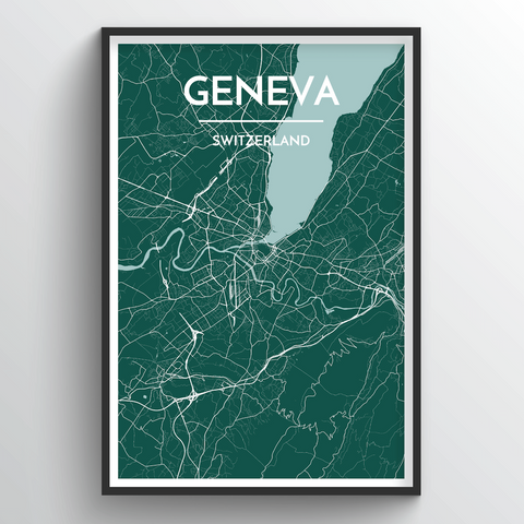 Affordable wholesale art prints of Geneva - City Map Art Print
