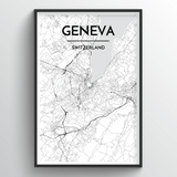 Geneva Map Art