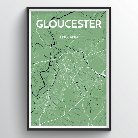 Affordable wholesale art prints of Glouchester - City Map Art Print