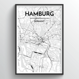 Hamburg Map Art