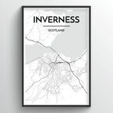 Inverness Map Art