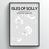 Isles of Scilly Map Art