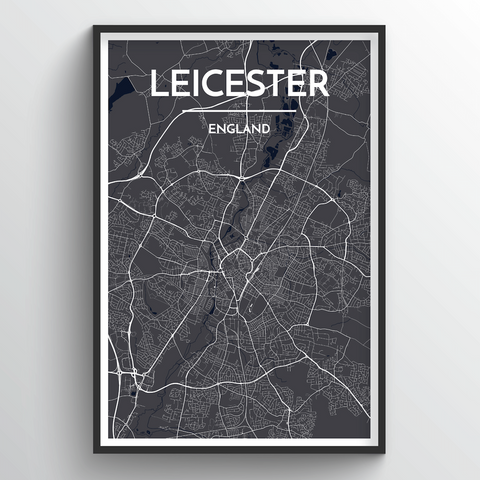 Affordable wholesale art prints of Leicester - City Map Art Print