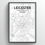 Leicester Map Art