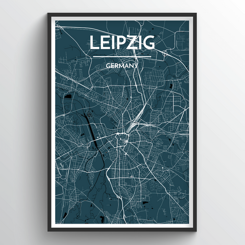 Affordable wholesale art prints of Leipzig - City Map Art Print