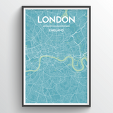 Affordable wholesale art prints of London - City Map Art Print