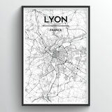 Lyon Map Art