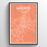 Affordable wholesale art prints of Madrid - City Map Art Print