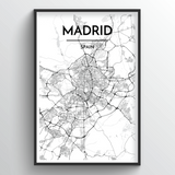 Madrid Map Art