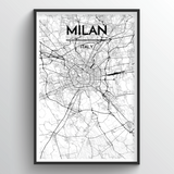 Milan Map Art