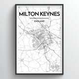 Milton Keynes Map Art