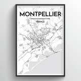Montpellier Map Art