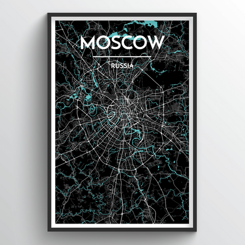 Affordable wholesale art prints of Moscow - City Map Art Print
