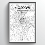 Moscow Map Art