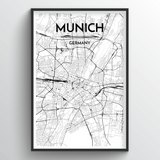 Munich Map Art