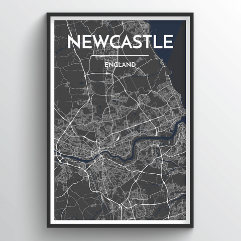 Affordable wholesale art prints of Newcastle - City Map Art Print