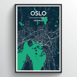Affordable wholesale art prints of Oslo - City Map Art Print