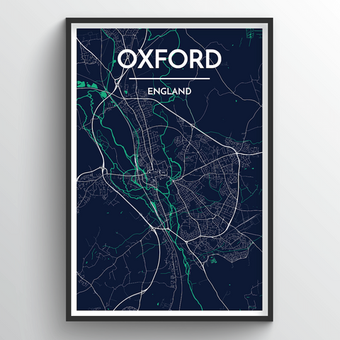 Affordable wholesale art prints of Oxford - City Map Art Print