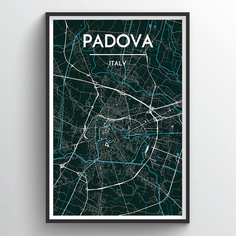 Affordable wholesale art prints of Padova - City Map Art Print