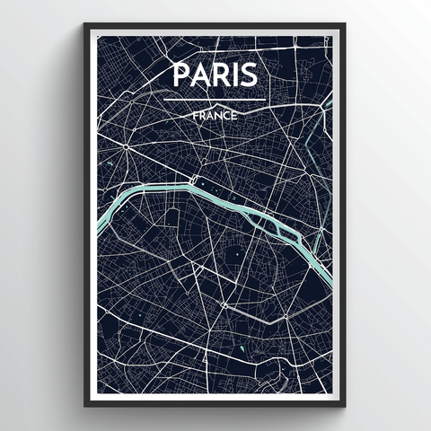 Affordable wholesale art prints of Paris - City Map Art Print