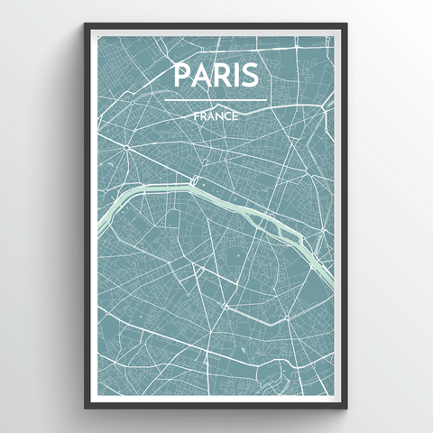 Paris Map Art