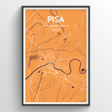 Affordable wholesale art prints of Pisa - City Map Art Print