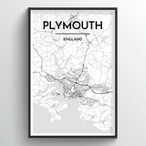 Plymouth Map Art