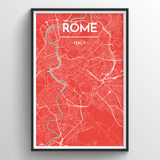 Affordable wholesale art prints of Rome - City Map Art Print
