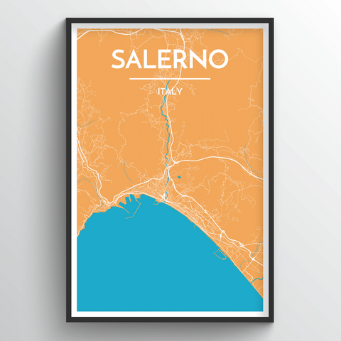 Affordable wholesale art prints of Salerno - City Map Art Print