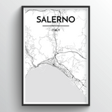 Salerno Map Art
