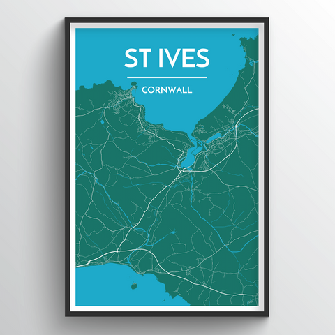 Affordable wholesale art prints of St Ives - City Map Art Print