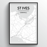 St Ives Map Art