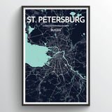 Affordable wholesale art prints of St Petersburg - City Map Art Print
