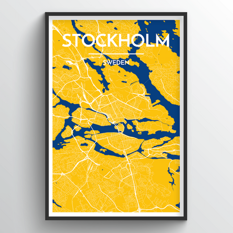 Affordable wholesale art prints of Stockholm - City Map Art Print