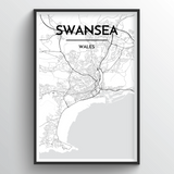 Swansea Map Art