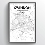 Swindon Map Art