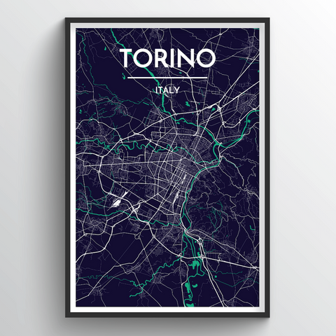 Affordable wholesale art prints of Torino - City Map Art Print