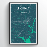 Affordable wholesale art prints of Truro - City Map Art Print