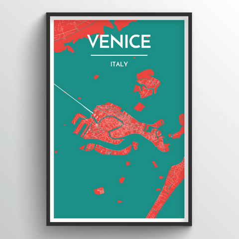 Affordable wholesale art prints of Venice - City Map Art Print
