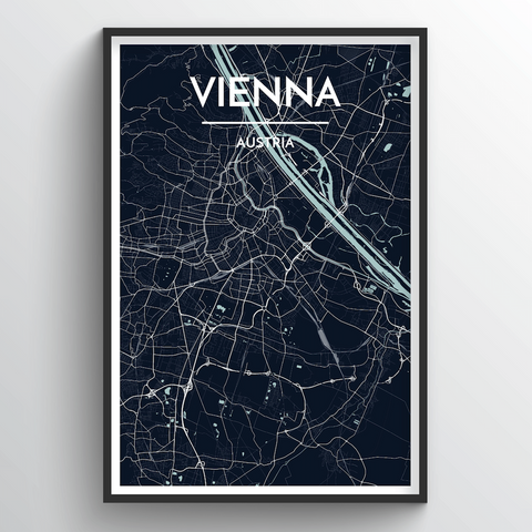 Affordable wholesale art prints of Vienna - City Map Art Print