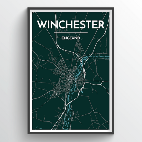 Affordable wholesale art prints of Winchester - City Map Art Print