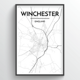 Winchester City Map