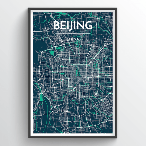Affordable wholesale art prints of Beijing - City Map Art Print